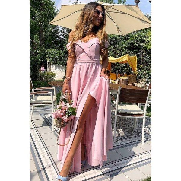 Długa Sukienka Elizabeth - różowa