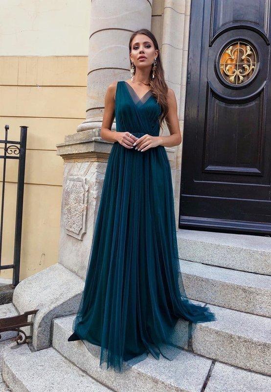 Sukienka - AGNES - zielony