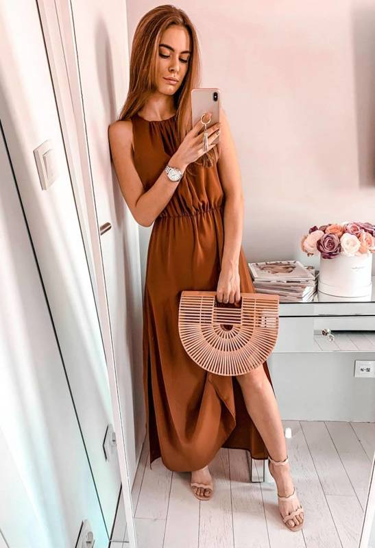 Sukienka Joelle-camel