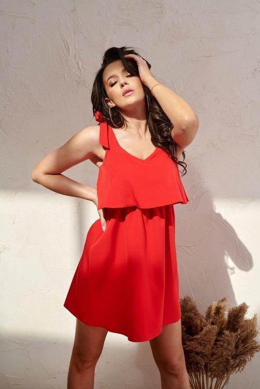 Sukienka Kokardka krótka- czerwony