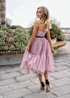 Sukienka LARA- lodowy róż