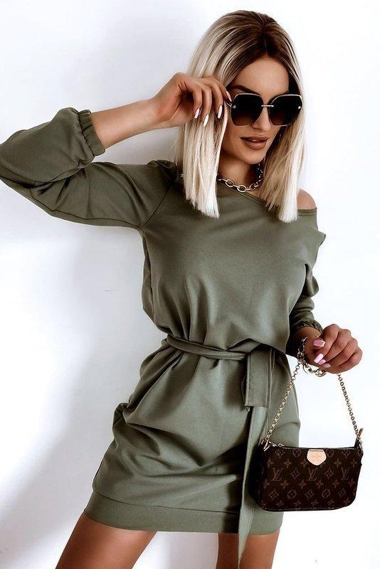 Sukienka Wiosenna Kimono- Olive