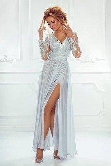 Sukienka Bella koronkowa czarny beż czarno beżowy   Odzież