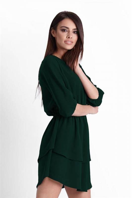 lucinda zielona mini sukienka rozkloszowana na co dzień boho