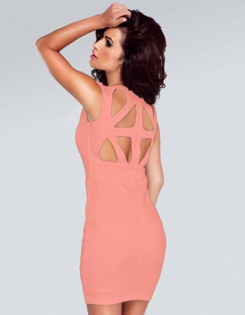 stacey brzoskwiniowa mini sukienka