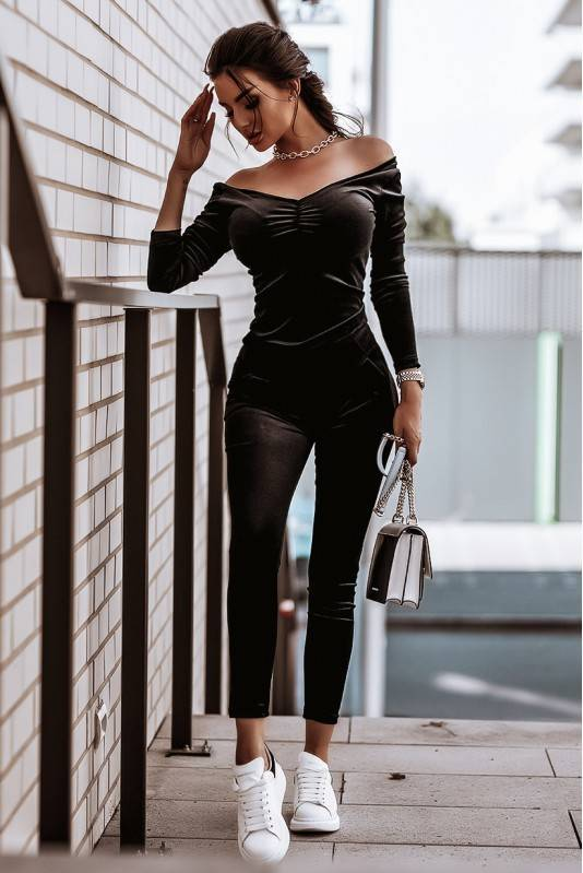 Komplet Velvet- czarny