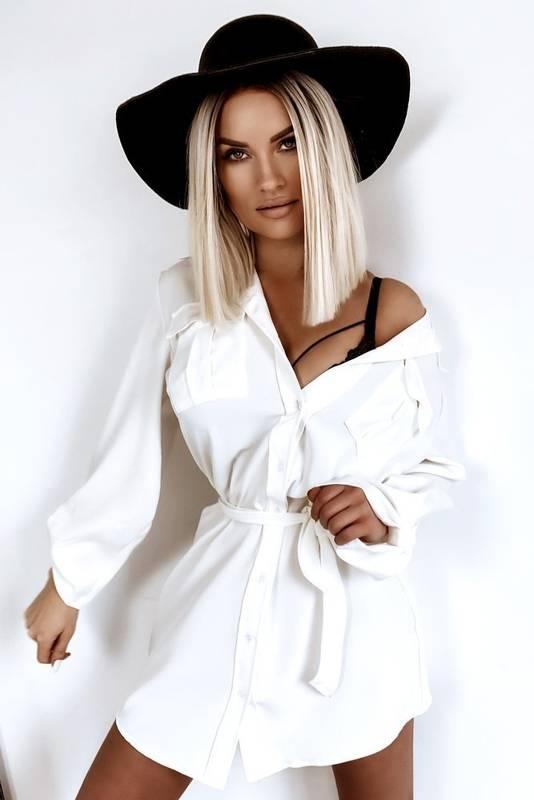 Koszula Bluzka Oversize White