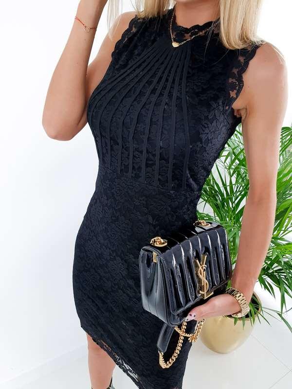 Sukienka ELENI z koronki - czarny