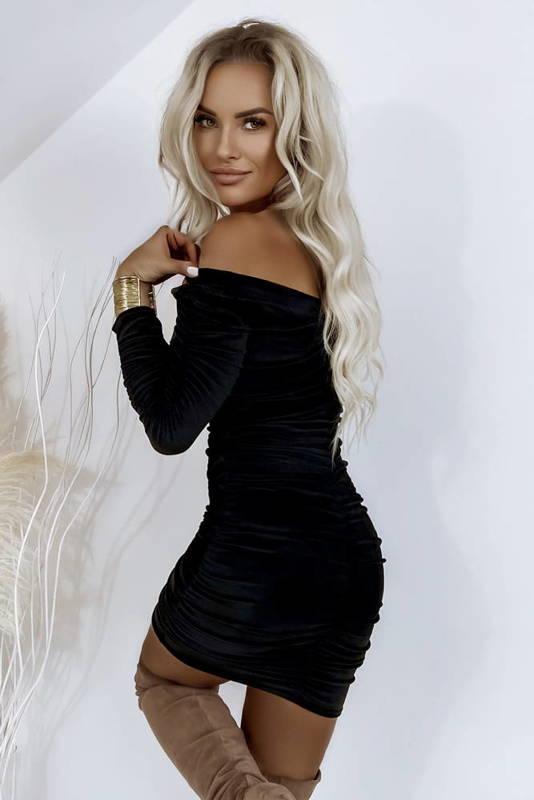 Sukienka Marszczona Leather