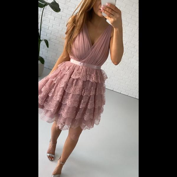 Sukienka Sindy- pudrowy