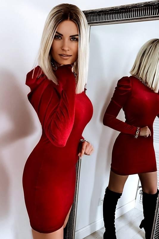 Sukienka Świąteczna Bufki Red