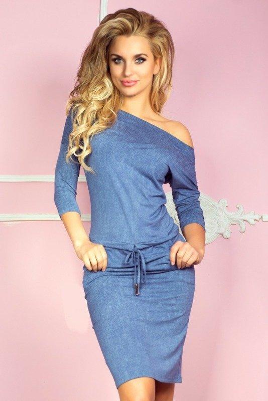 Sukienka sportowa - Wiskoza - jeans jasny niebieski
