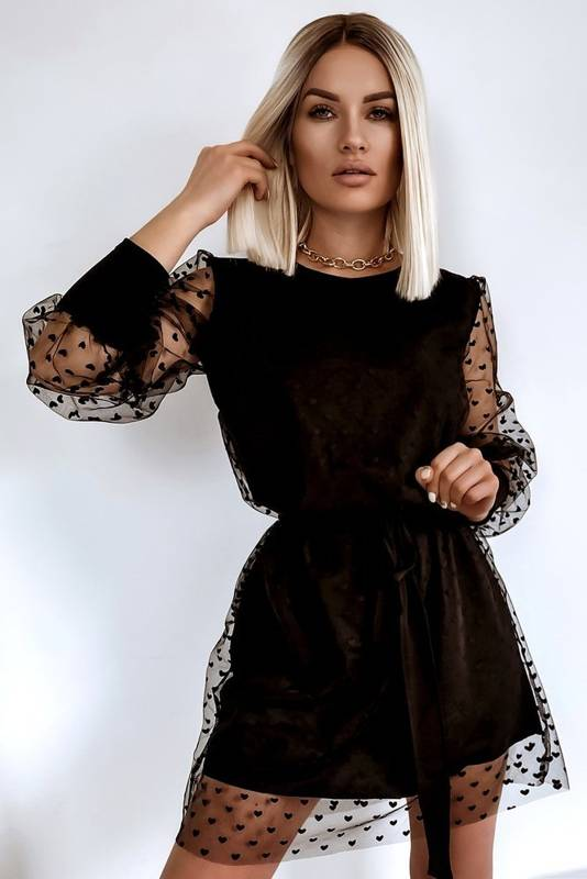 Sukienka tiul Serca Black
